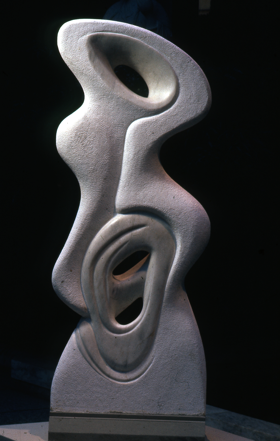 Smooth gray carved marble